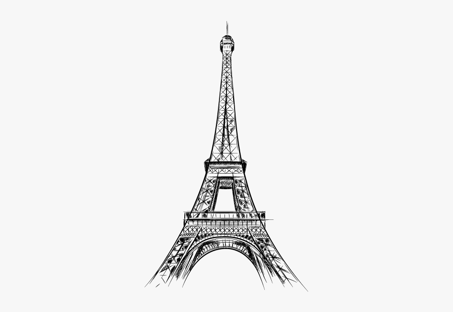 Eiffel Tower Drawing Vector Graphics Sketch Illustration - Eiffel Tower Drawing, Transparent Clipart