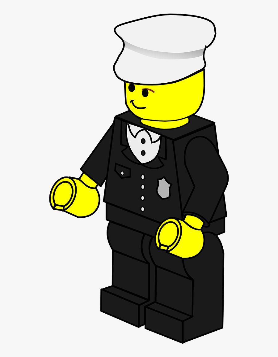 Transparent Police Officer Clipart - Lego Clip Art, Transparent Clipart