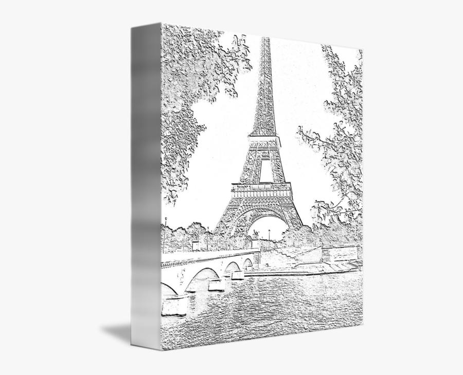 Drawn Eiffel Tower Brown - Eiffel Tower Charcoal, Transparent Clipart