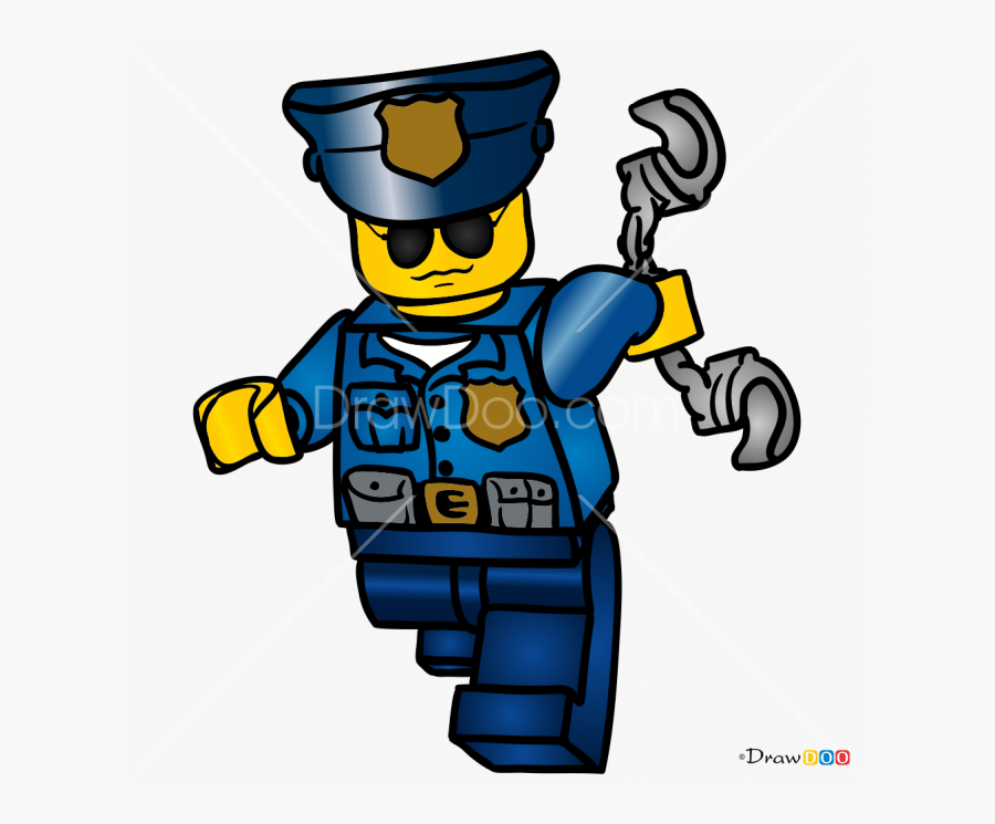 How To Draw Police Officer, Lego City - Lego City Police Characters, Transparent Clipart