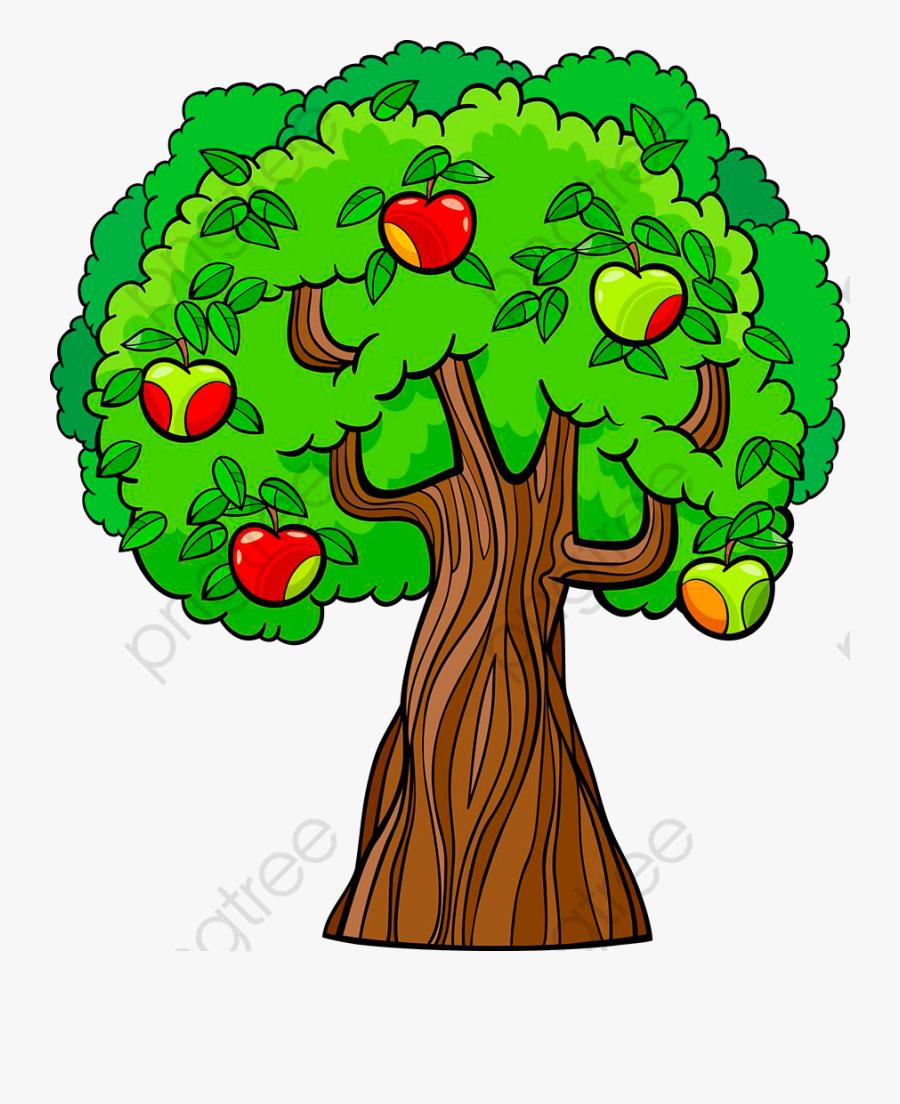 Apple Tree Cartoon Png - Cartoon Apple Tree, Transparent Clipart