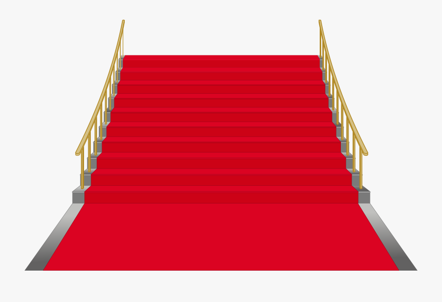 Red Stairs Png Clip Art Image - Stairs Red, Transparent Clipart