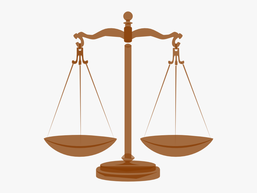 Scale Brown Clip Art At Clker - Scales Of Justice, Transparent Clipart
