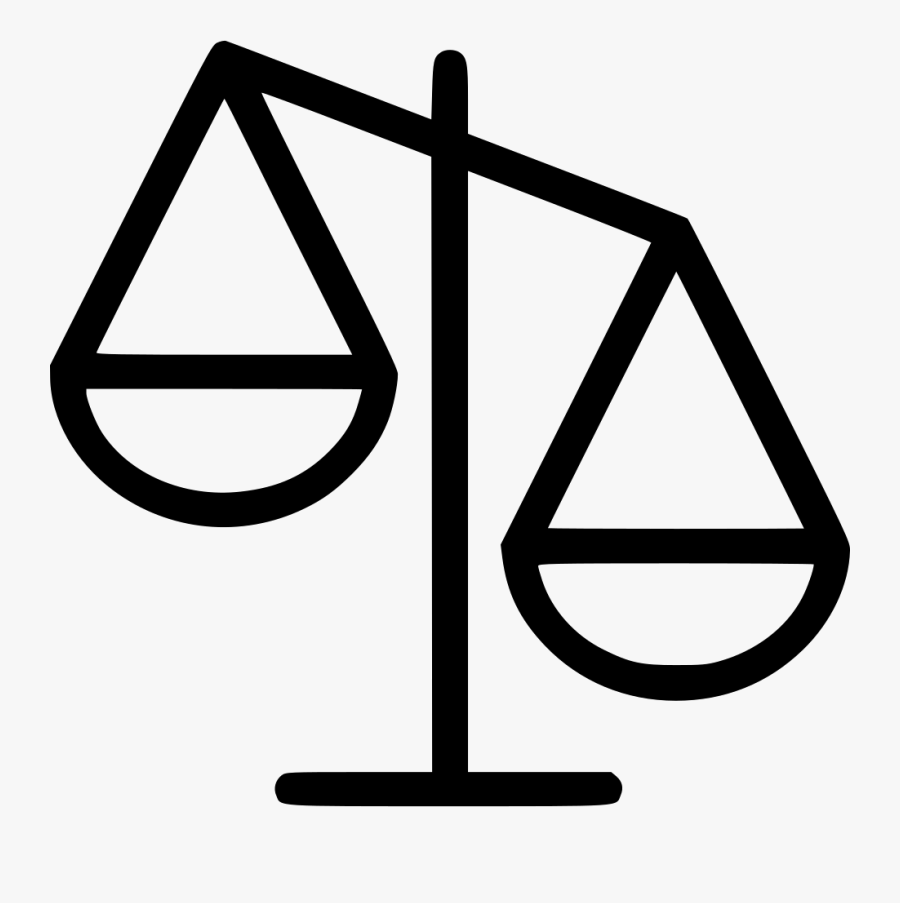 Scale Attorney Svg Png - Justice Scale Icon Png, Transparent Clipart