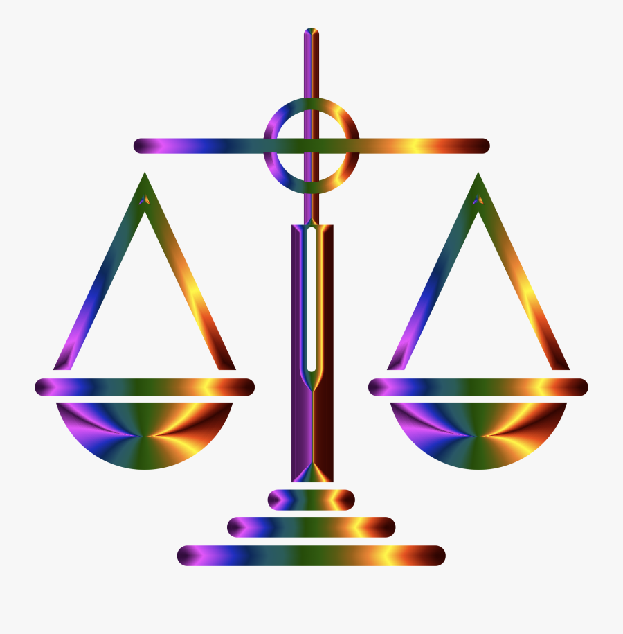 Scales Of Justice Clipart At Getdrawings - Colorful Scales Of Justice, Transparent Clipart