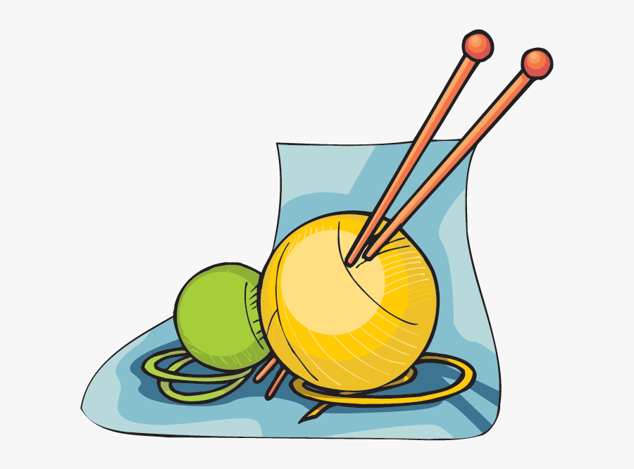 Knitting Needles And Yarn, Transparent Clipart