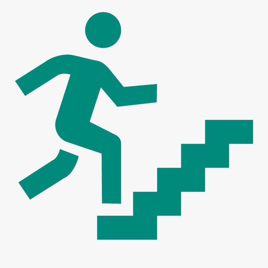 Transparent Staircase Clipart Png - Man Climbing Stairs Clipart, Transparent Clipart