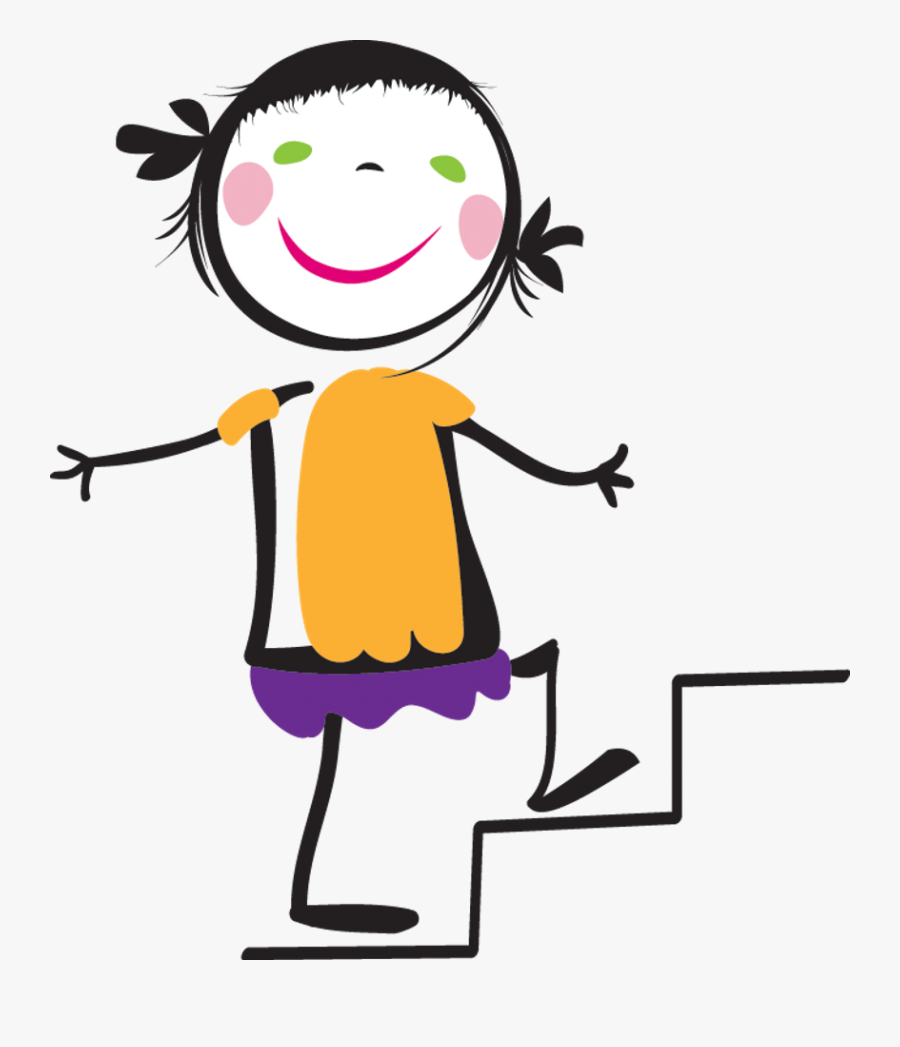 Clip Art Walking Up Here Clipart - Climb The Stairs Cartoon, Transparent Clipart