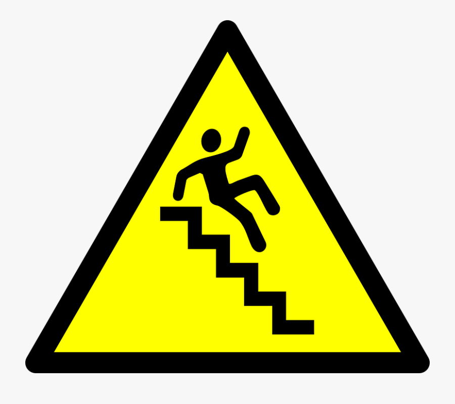 Stairs - Caution Stairs, Transparent Clipart