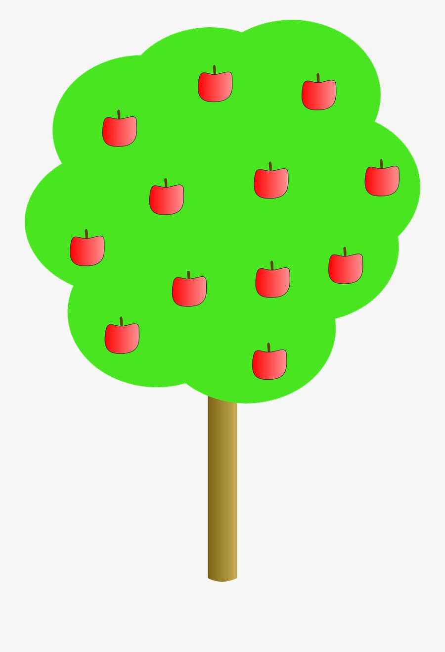 Apple, Tree, Apples, Red - Apple Tree Clip Art, Transparent Clipart