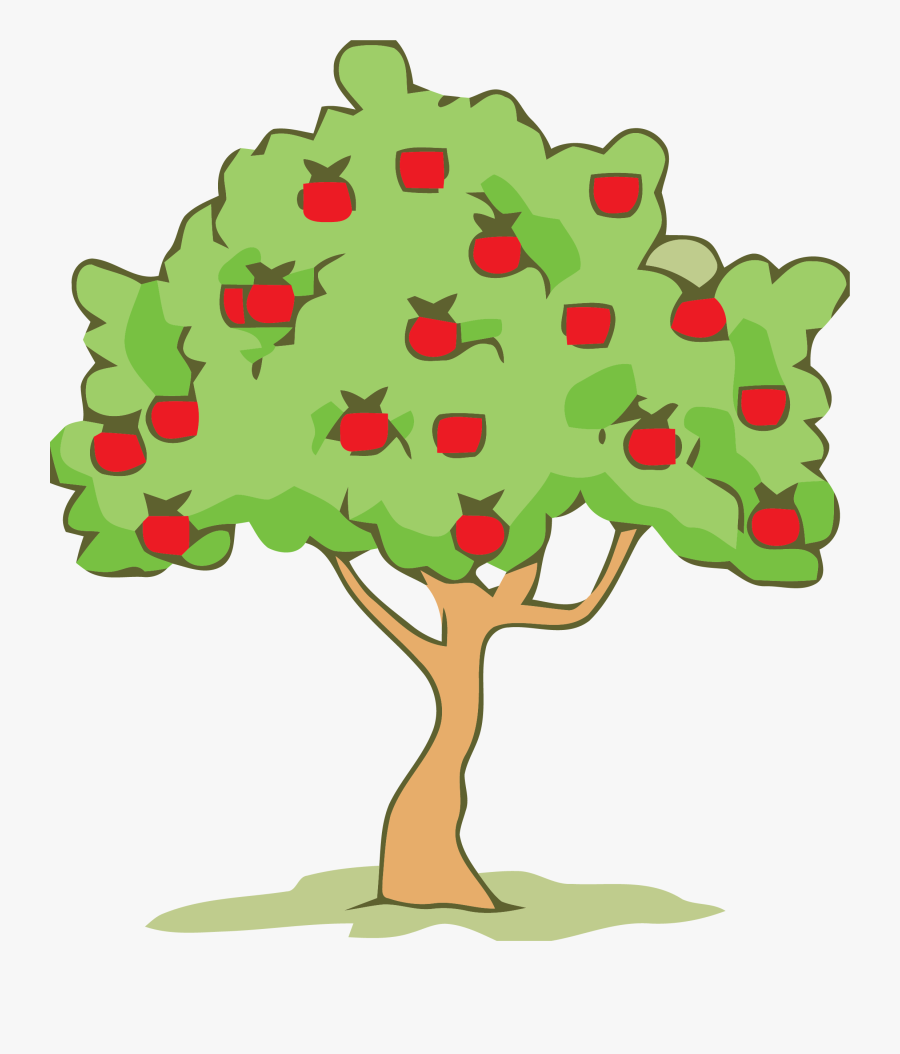 Green Smoke Color Tree Clipart Png - Clip Art Apple Trees, Transparent Clipart