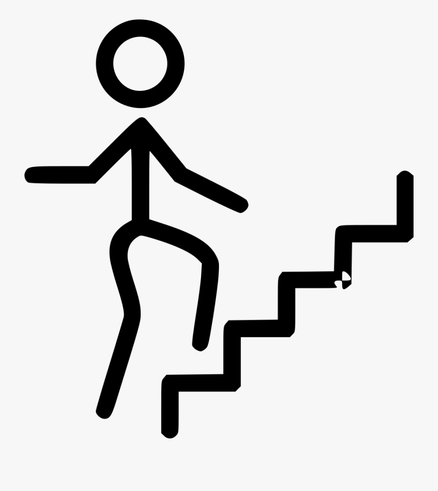Person Climbing Stairs Svg - Take The Stairs Instead Lift, Transparent Clipart