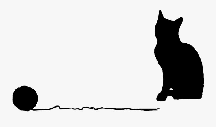 Clip Freeuse Stock Cat Yarn Ball Drawing - Cat With Yarn Vector, Transparent Clipart