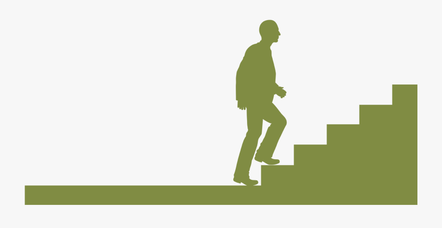 People Walking Up Stairs, Transparent Clipart