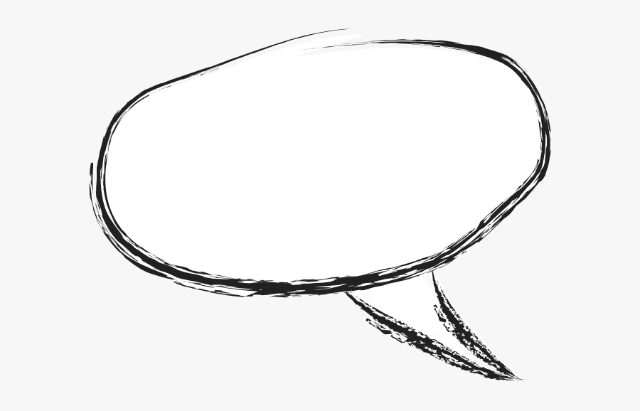 Grungy Charcoal Speech Bubble - Circle, Transparent Clipart