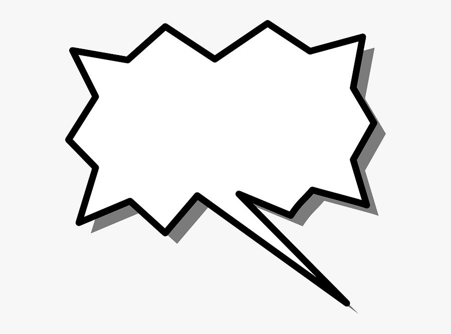 Pointy Speech Bubble Transparent, Transparent Clipart