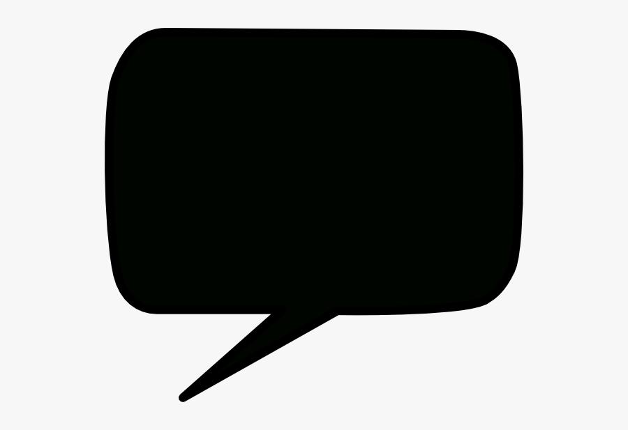 Black Speech Bubble Vector, Transparent Clipart