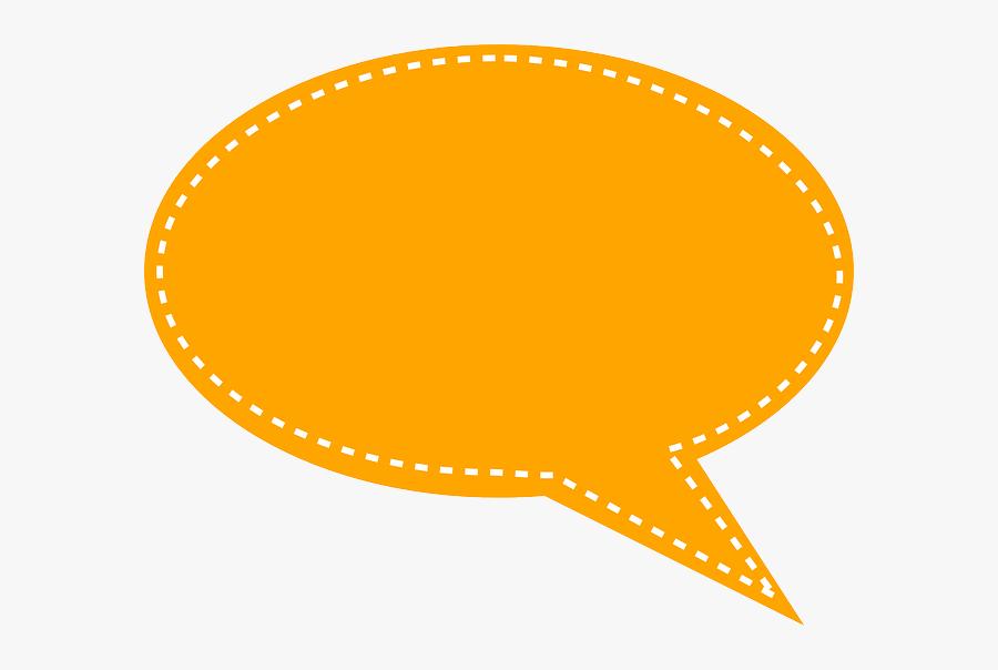 Transparent Bubble Clipart - Orange Speech Bubble Png, Transparent Clipart