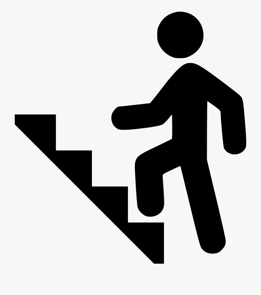 Climbing Stairs Png Svg Freeuse Download - Climbing Stairs Clipart, Transparent Clipart