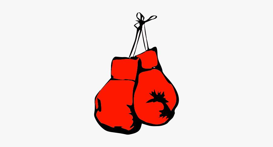 Burning Boxing Gloves - Hanging Boxing Gloves, Transparent Clipart
