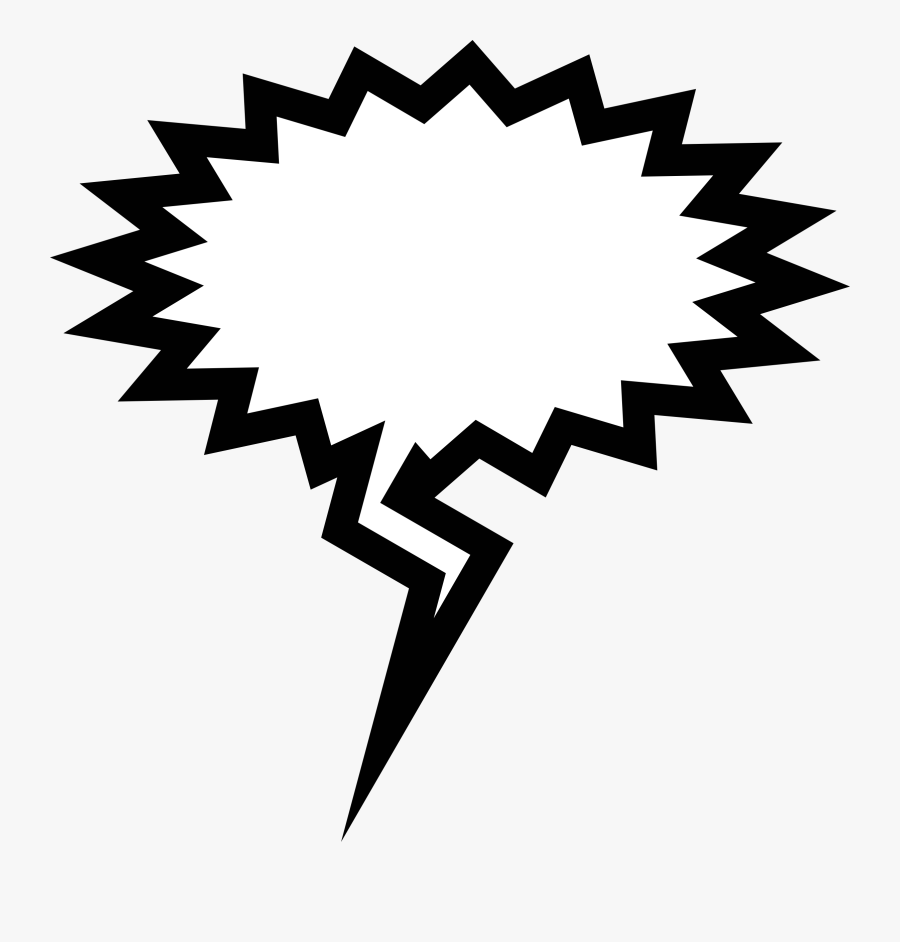 Clipart - Speech Bubbles - Angry Speech Bubble Png, Transparent Clipart
