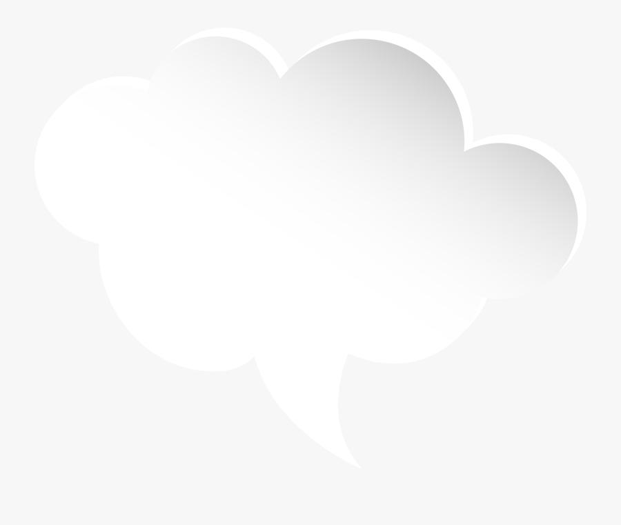 Clouds Clipart Pink Cloud - Cloud Speech Bubble Png, Transparent Clipart