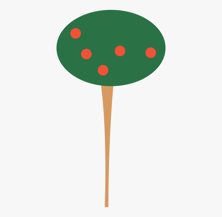 Tree Clump Clipart Icon Png - Tall Apple Tree Clipart, Transparent Clipart