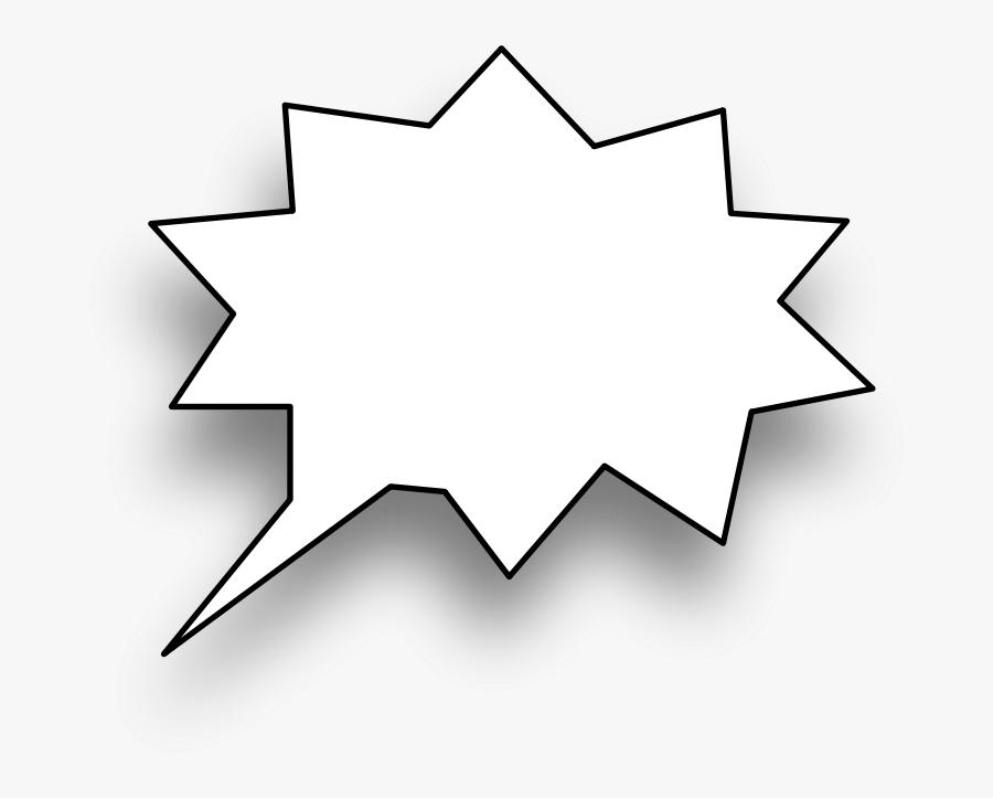 Speech Bubble - Spiky Speech Bubble, Transparent Clipart