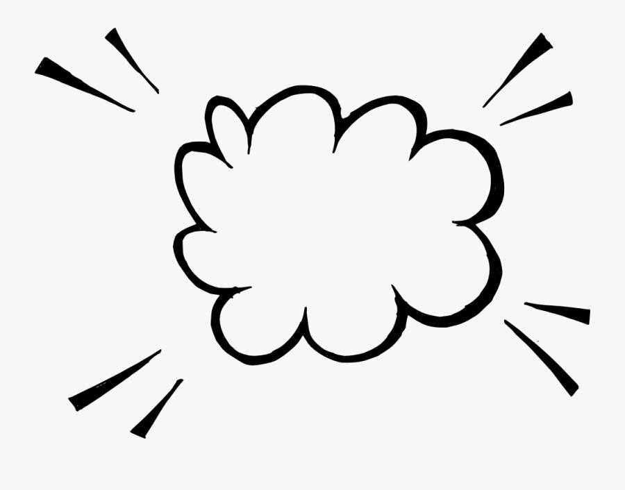 Hand Drawn Comic Speech Bubble Explosion Vector - Speech Bubble Comic Transparent, Transparent Clipart