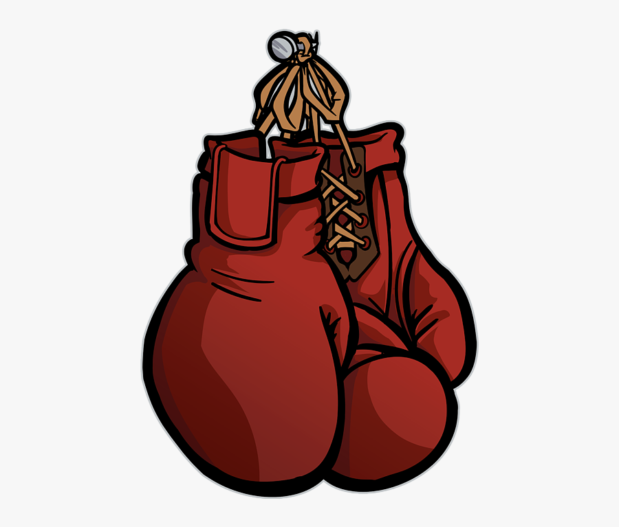 Boxing Gloves Clipart Simple - Red Boxing Gloves Cartoon, Transparent Clipart