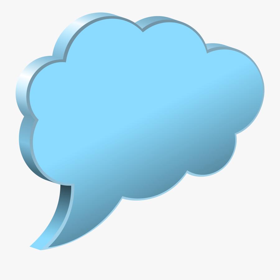 Speech Bubble Cloud Transparent - Speech Balloon Png Transparent, Transparent Clipart