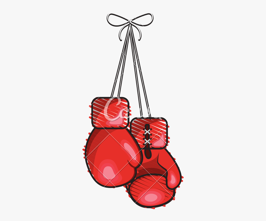 Clip Art Hanging Boxing Glove - Hanging Boxing Gloves Png, Transparent Clipart