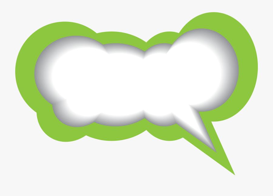 Transparent Bubble Clipart Png - Green Speech Bubble Png, Transparent Clipart