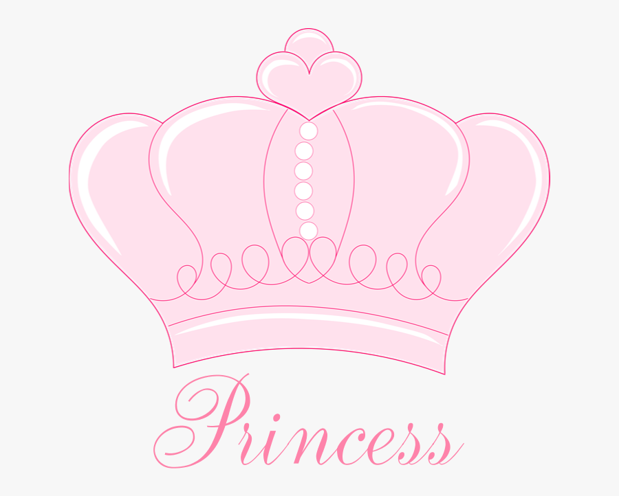 Pink Crown Princess Shower Curtain By Gigglish Jpg - Crown Clip Art Baby Pink, Transparent Clipart