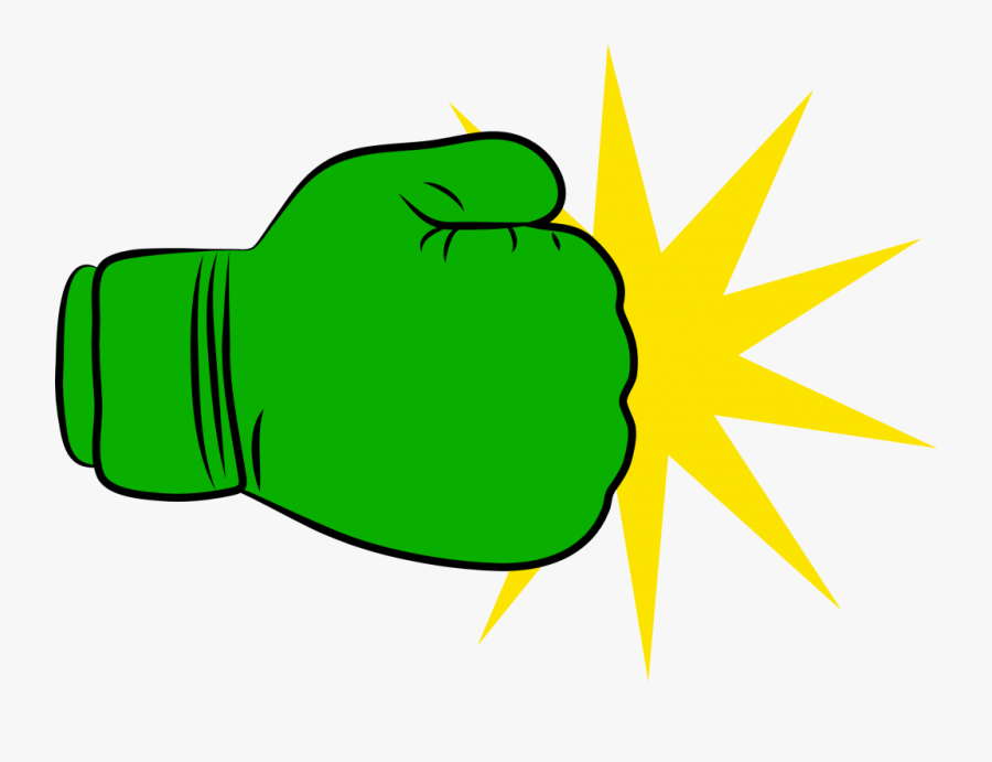 Transparent Glove Clipart - Green Boxing Glove Clipart, Transparent Clipart
