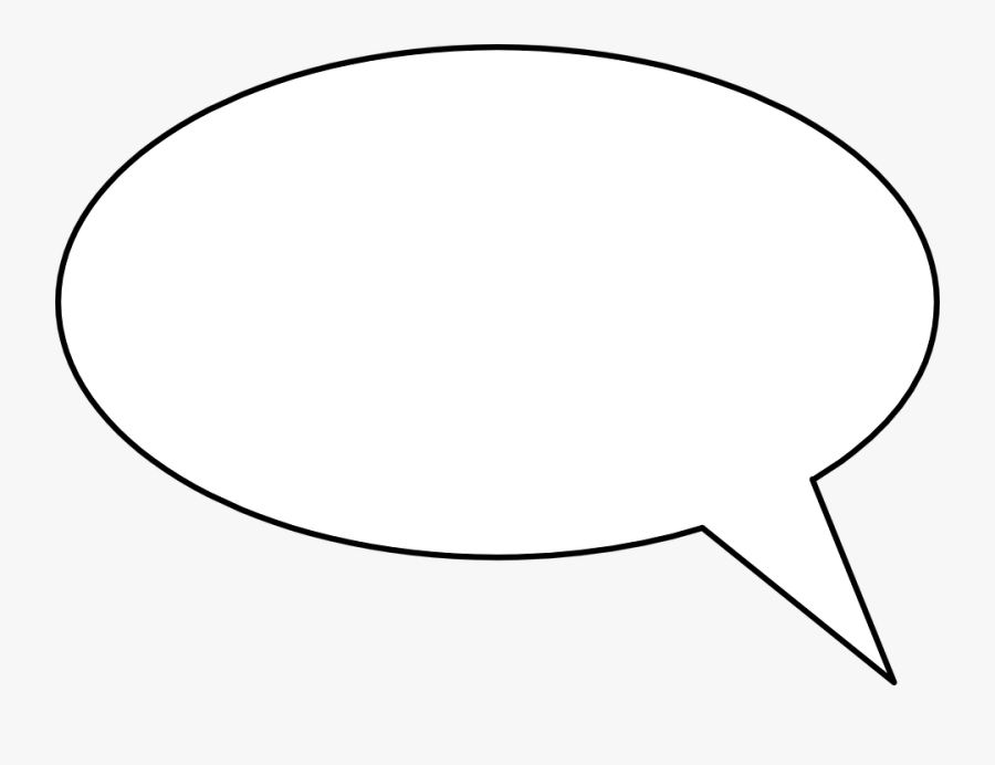 Talk Bubble - Manga Speech Bubble Blank, Transparent Clipart