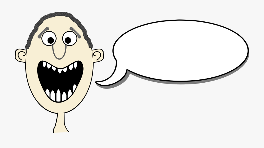 Cartoon With Speech Bubbles, Transparent Clipart