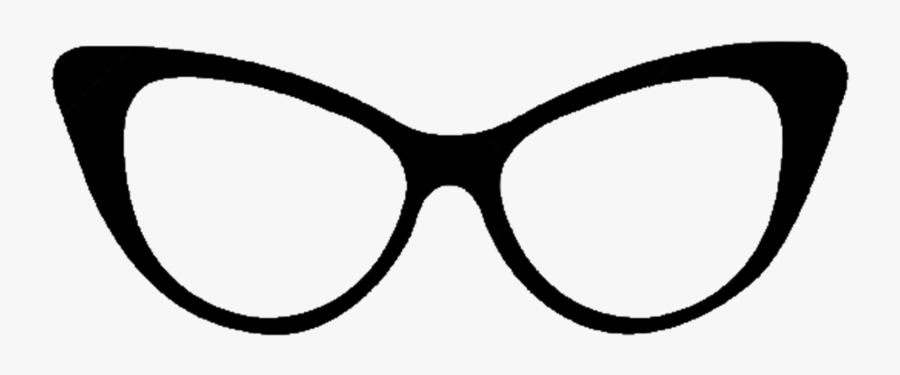 28 Collection Of Cat Eye Glasses Drawing - Cat Eye Glasses Drawing, Transparent Clipart