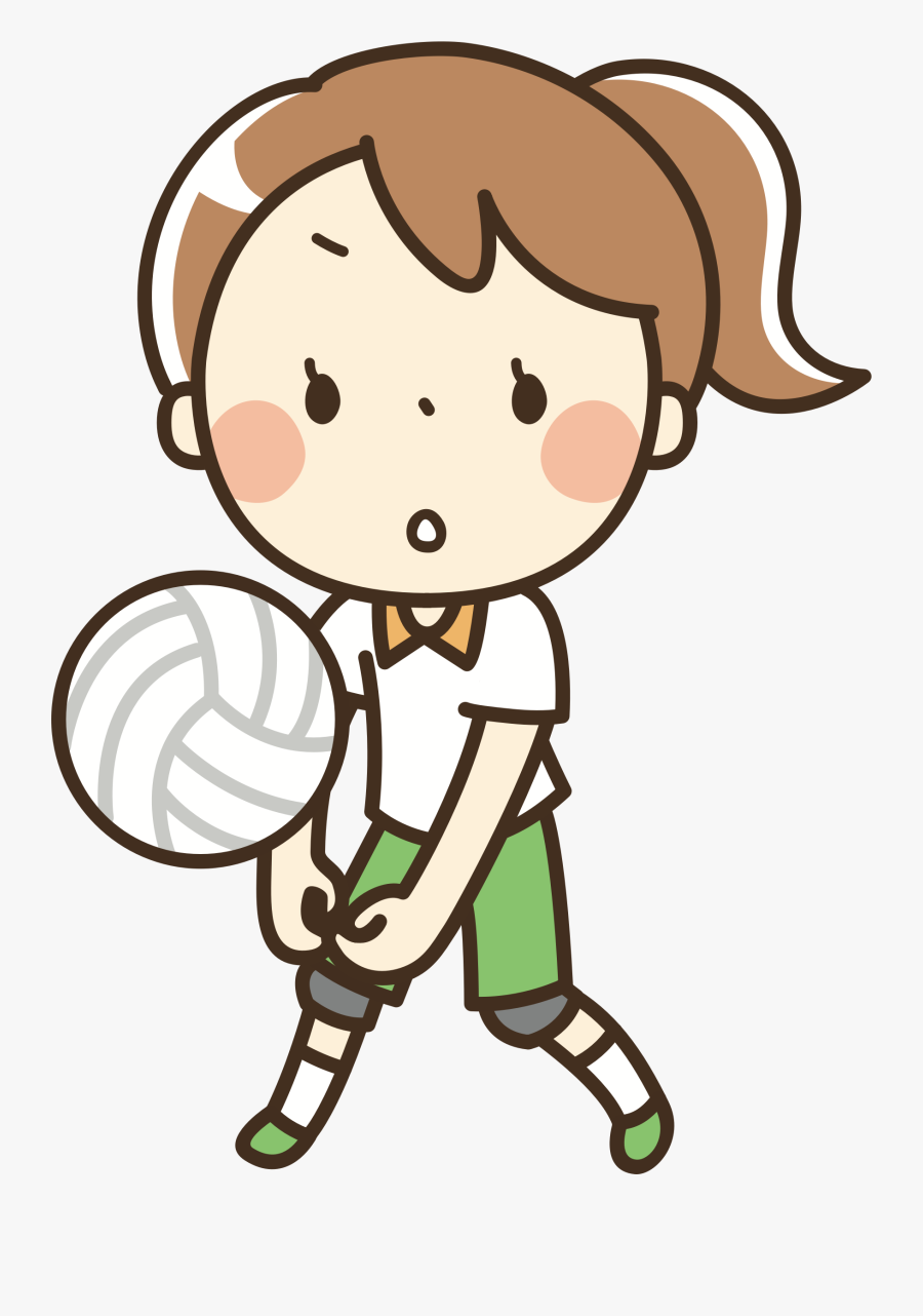 Volleyball Clipart Girl - Clipart Woman Listening To Music, Transparent Clipart