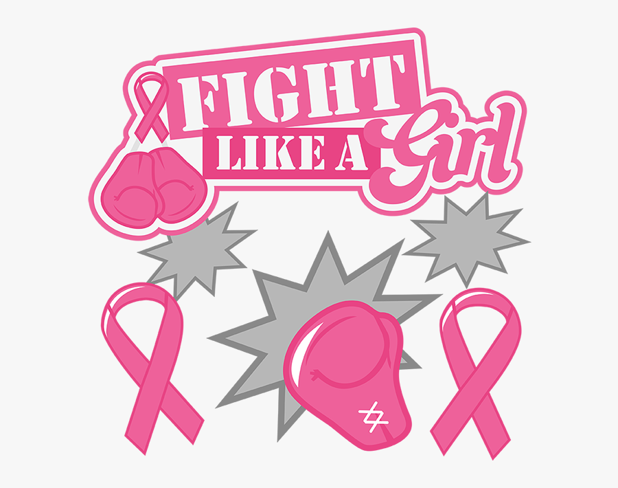 Fight Cliparts Knock Out - Fight Like A Girl With Boxing Gloves, Transparent Clipart