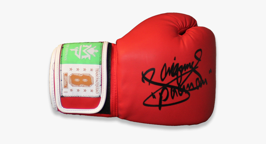 Manny Pacquiao Signed Team Pacquiao Boxing Glove - Boxing, Transparent Clipart