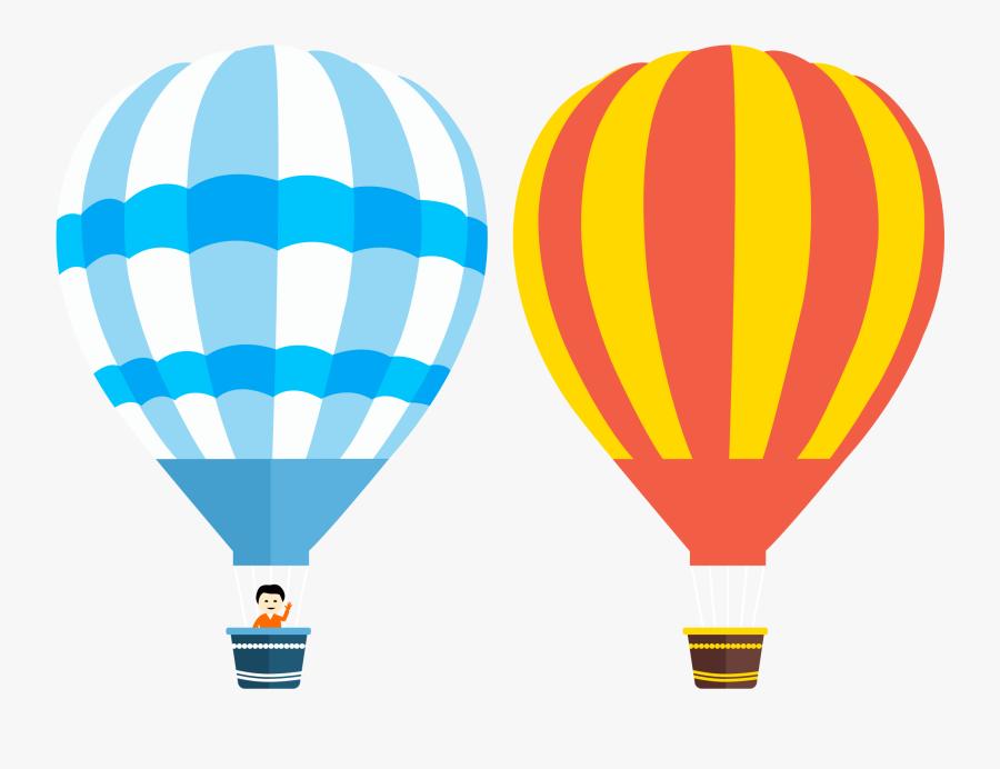 Hot Air Balloon Balloons - Hot Air Balloon Vector Png, Transparent Clipart