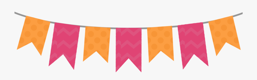 Clipart Pink Bunting Banner Png, Transparent Clipart