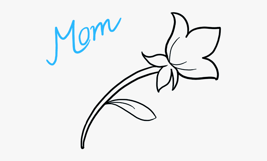 "How To Draw Mother""s Day Flower - Draw Mother S Day, Transparent Clipart"