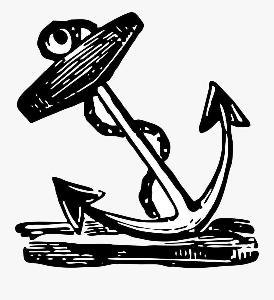 Vintage, Anchor, Navy, Sailor, Nautical, Tattoo - Tattoo Nautical Sailors Anchor, Transparent Clipart