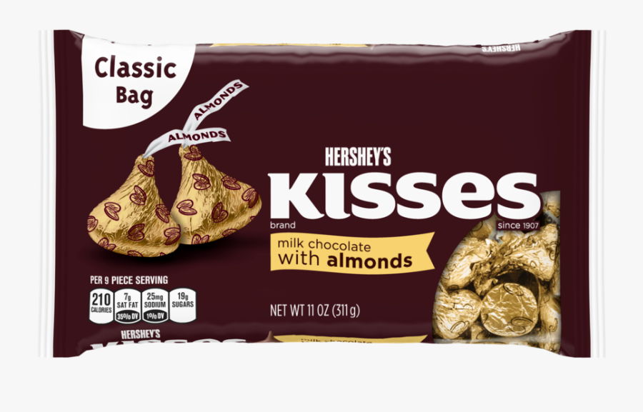 Hershey Kisses Png - Hershey Kisses Almond, Transparent Clipart