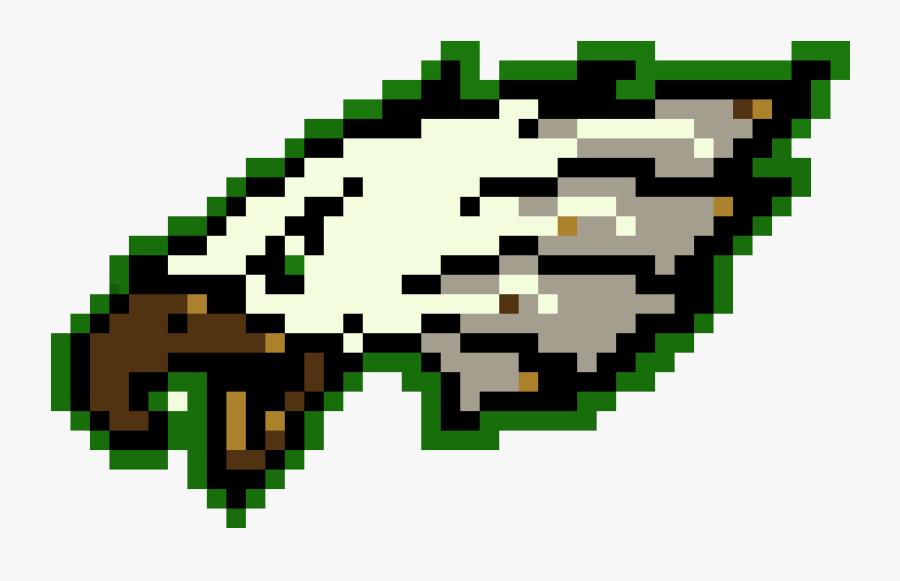 Eagles Logo Pixel Art, Transparent Clipart