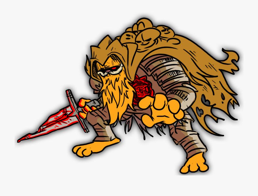 Garfield Dark Souls Bosses, Transparent Clipart