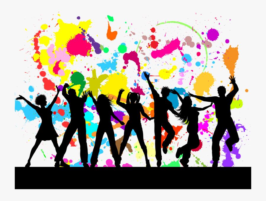 Colorful Paint Splatter Background, Transparent Clipart