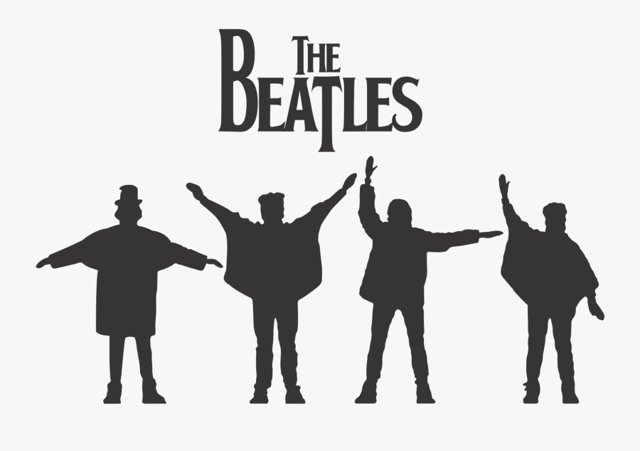 The Beatles Abbey Road Silhouette - Beatles Help Silhouette, Transparent Clipart
